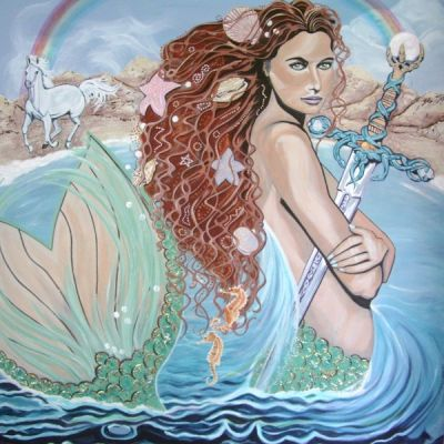 Mermaid 2 painting by Allison Wild